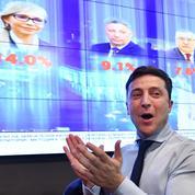 Ukraine: le comédien Volodymyr Zelensky en tête au premier tour