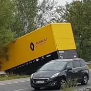 Formule 1: un camion de l'écurie Renault victime d'un accident de la route en Hongrie