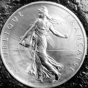 Pièce de monnaie «La Semeuse» mise en circulation en 1959.