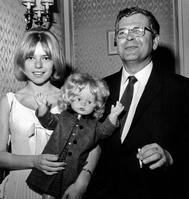 France Gall et son père Robert en 1965.