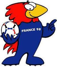 Footix, la mascotte de la Coupe du monde 1998.