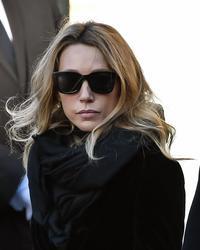 Laura Smet aux obsèques de son père, le 9 décembre 2017.