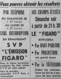 Le Figaro offre ses services aux lecteurs le 27 septembre 1958.