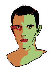 Le chanteur Lescop dessiné par Bastien Vivès.