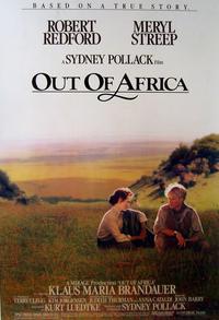 À l'affiche d' «Out of Africa», avec Meryl Streep.