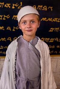 Murad Aazam, âgé de huit ans, est le fils d'Alaa, une Ukrainienne mariée avec un Samaritain.