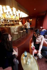 Le bar de l'Hôtel Grands Boulevards.