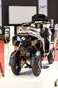 Le prototype électrique e-Qooder exposé à Genève.