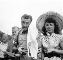 Avec Louison Bobet, <br/>vainqueur du Tour en 1955.