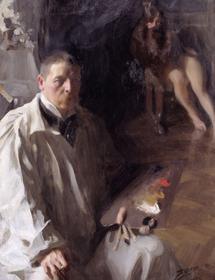 Anders Zorn, Autoportrait, huile sur toile, 1896. Nationalmuseum, Stockholm, Suède