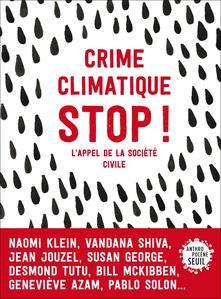 Couverture du livre <i>Crime climatique, Stop</i>