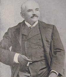 Portrait de l'industriel John Higginson (1839-1905) finance les premières mines en Nouvelle-Calédonie.