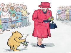 Winnie l'Ourson et ses amis rencontrent la reine Élisabeth II