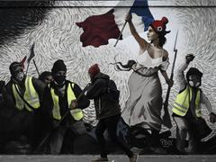 La Liberté guidant les «gilets jaunes», la fresque d'un street artist cache un trésor en bitcoins