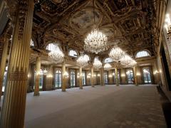 Palais de l'Élysée: la salle des fêtes rénovée est dévoilée au public