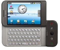Le HTC Dream, premier appareil Android commercialisé en 2008. (T-Mobile)