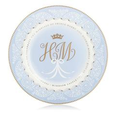 Le «commemorative plate» officiel, du mariage princier.