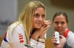 Petra Kvitova avec l'équipe de Fed Cup tchèque.
