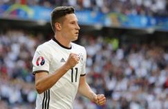 Julian Draxler avec l'équipe nationale allemande durant l'Euro 2016 en France.