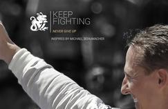 La page d'accueil du site #keepfighting dédié à Michael Schumacher