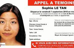 Ce que l'on sait sur la disparition de Sophie Le Tan