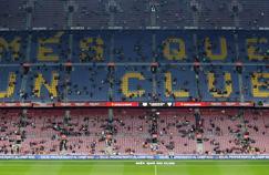 Le Camp Nou avant le match entre le FC Barcelone et le FC Séville samedi soir.