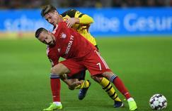 Franck Ribéry avec le Bayern Munich contre Dortmund samedi dernier.