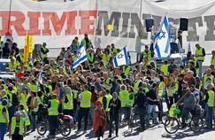 Premières manifestations de «gilets jaunes» en Israël