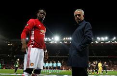Paul Pogba et José Mourinho.