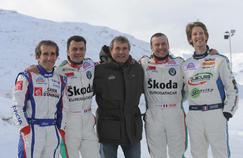 Max Mamers (au centre) en compagnie d'Alain Prost, Olivier Panis ou encore Romain Grojean.