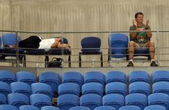 Les rares spectateurs du match Muguruza-Konta ont lutté contre le sommeil à Melbourne.