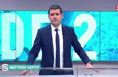 Matthieu Lartot à la présentation de Stade 2 le dimanche après-midi sur Stade 2.
