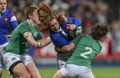 L'équipe de France de rugby féminin lors du Tournoi des VI Nations 2019.