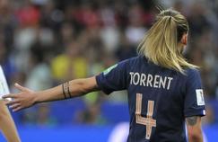 Marion Torrent avec l'équipe de France