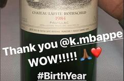 Kylian Mbappé a offert une bouteille de vin à LeBron James