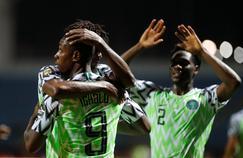 Les Nigérians à l'occasion du match contre le Burundi