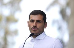 Iker Casillas à sa sortie de l'hôpital en mai dernier
