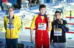 Le podium du 400m nage libre