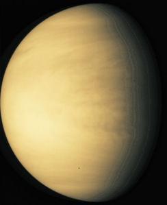 Vénus vu par le télescope spatial Hubble.
