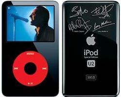 L'iPod U2 était dédicacé par les membres du groupe.