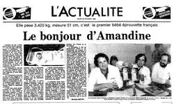 <i>Le Figaro</i> daté du 25 février 1982.