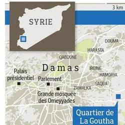 La Ghouta, au sud-est de Damas.