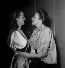 Danielle Darrieux et Micheline Presle en 1947.
