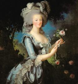 Marie Antoinette avec une rose, de Vigée Le Brun, 1783.