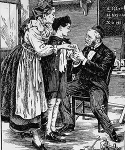 Pasteur examine le petit Meister qui présente 14 blessures.