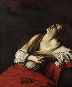 «Madeleine enextase», Michelangelo Merisi, dit Caravage (1606).