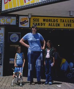 Sandy Allen à Wildwood, en 1978.