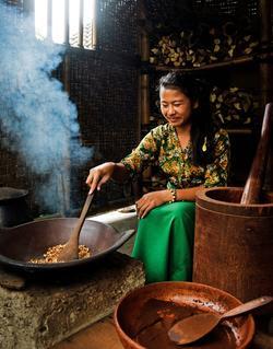 Préparation du café le Kopi luwak.