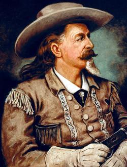 Buffalo Bill (1846-1917), l'audacieux cavalier et le tireur remarquable.