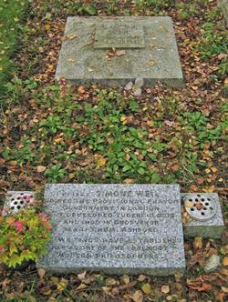 La tombe de Simone Weil, dans le cimetière d'Ashford.
